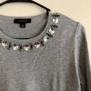Grey Ann Taylor Sweater